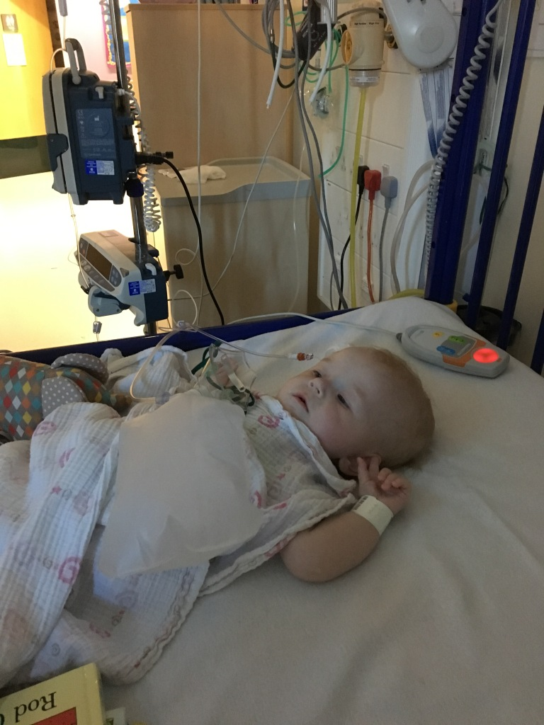 Violet in Children's hospital MCR