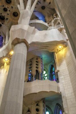 Inside of basilica de la sagrada familia, Barcelona